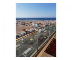 شقة مفروشة للايجار - سيدى بشر -شاطىء السرايا - الدور ٤-اول نمرة من البحر - صورة 4