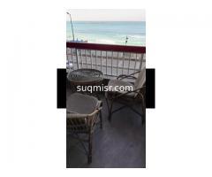 شقة فاخرة مفروشة للايجار - سيدى بشر - برج الشاطىء-الدور ٢-اول نمرة من البحر - صورة 1