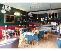 كافيه ومطعم للايجار بالتجمع الخامس مساحة داخلية 180م وحديقة 70م