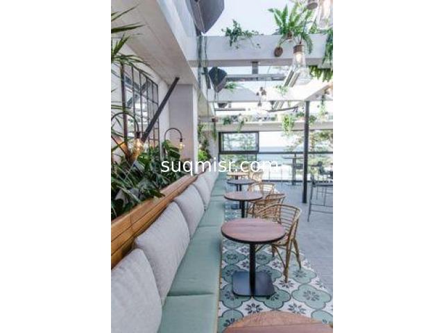 مطعم للايجار 32 م داخلي و 50م مساحة خارجية  بشارع 9 المعادي - 1